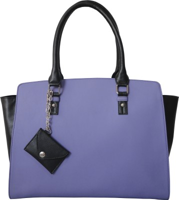 Toteteca Bag Works Wide Sideways Satchel Shoulder Bag - Purple