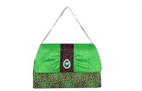 Bag Berry Brooch Hand-held Bag - Green