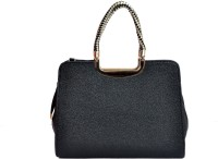 Gouri Bags Stylish Leather Women Hand-held Bag Black-01