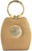 Saisha Modish Hand-held Bag - Gold