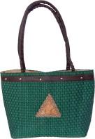 Womaniya Handicraft Jute Shoulder Bag (Green)