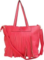 Hi Look Cut Flap Shoulder Bag - Pink-01