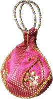 Tripssy Bead Sequins Pouch Potli Pink