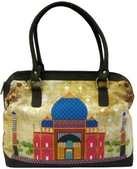 The Bombay Store Taj Colourful Print Hand Bag - Multi-color