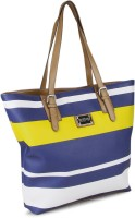Kenneth Cole Reaction Mardi Gras Shoulder Bag (Navy, White And Yellow)