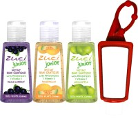 Zuci 30 Ml Black Current, Muskmelon, And Green Apple Hand Sanitizer With Bag Tag Hand Sanitizer (90 Ml)
