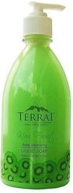 Terrai Natural Hand Washes and Sanitizers Terrai Natural Kiwi Fruit Liquid Soap