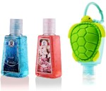 Bloomsberry Hand Washes and Sanitizers Bloomsberry Tortoise holder with Aqua Bliss, Fresh Blooms Hand Sanitizer