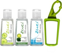 Zuci 30 ML CITRUS LIME, CUCUMBER MINT, AND NATURAL HAND SANITIZER WITH BAG TAG Hand Sanitizer (90 Ml)