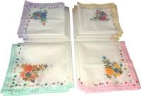Shopmania Check Border Design Handkerchief (Pack Of 12)
