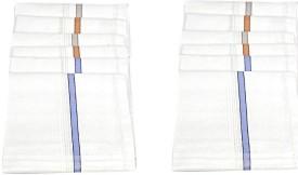 Homeshopeez Mens Premium Cotton - WHT-BRD Handkerchief