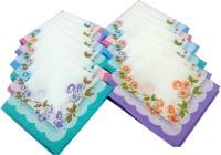 SaifeeSons Winter Blossoms Handkerchief Pack Of 12