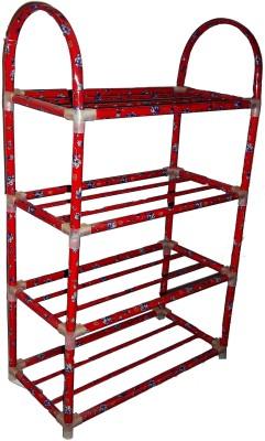 Kotak Sales Portable Folding Shoe Rack Organizer Shelf Metal 4 Layer Foot Wear Storage Shoe Organizer