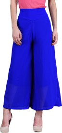 London Off Solid Faux Georgette Women's Harem Pants