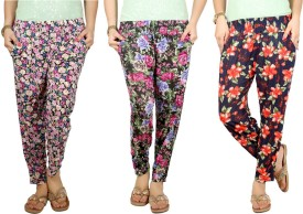 Q-Rious Floral Print Polyester Women's Harem Pants - HAREH9PZFRXQUAPT