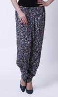 Thegudlook Floral Print Cotton Women's Harem Pants