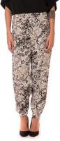 Urban Religion Floral Print Polyester Women's Harem Pants