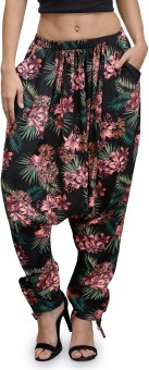 The Gud Look Floral Print Polyester Women's Harem Pants