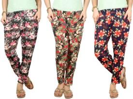 Q-Rious Floral Print Polyester Women's Harem Pants - HAREH9PSKYECZGNJ