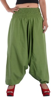 Indi Bargain Solid Cotton Women's Harem Pants - HARE8NZGDYZKUGRR