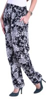Thegudlook Floral Print Polyester Women's Harem Pants