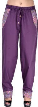 Indi Bargain Solid Cotton Women's Harem Pants - HARE6FWUVHCWKJYB