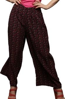 Cloe Printed Faux Crepe Women's Harem Pants