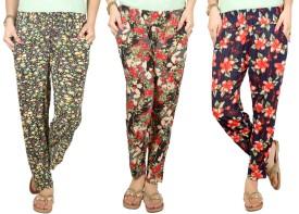 Q-Rious Floral Print Polyester Women's Harem Pants - HAREH9PZRHY8ZNN8