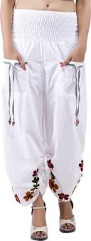 Indi Bargain Embroidered Cotton Women's Harem Pants - HARE5CXT34SQDPGV