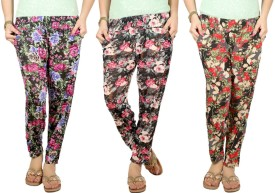 Q-Rious Floral Print Polyester Women's Harem Pants - HAREH9PPVEKTMRPZ