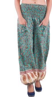 Indi Bargain Printed Cotton Women's Harem Pants