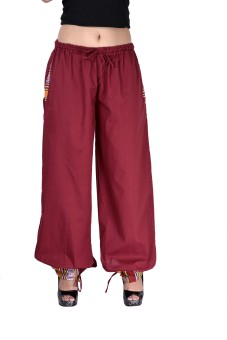 Indi Bargain Solid Cotton Women's Harem Pants - HARE6FWUP7YCGZXX