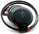 Smiledrive Foldable Neckband Excellent Sound, Maximum Ease Wireless Bluetooth Headphones - Black & Red, Behind The Neck