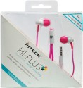 Hitech Hi-Plus Handsfree H34 Wired Headphones (Pink, Earbud)