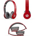 Ubonbigdaddybass Solo Beats 465 EXTRA BASS STEREO DYNAMIC Over Ear Wired Headphones (Red, On The Ear)