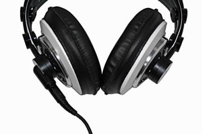 AKG M220 Pro Stylist Professional Large Diaphragm DJ Semi-Open High Definition Over-Ear Studio Headphones Red