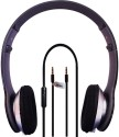 Casecube Headphone-1350 Wired Headphones (Black, Over The Head)
