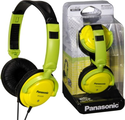 Panasonic RP DJS200E Y Yellow, Over the Head available at Flipkart for Rs.1264