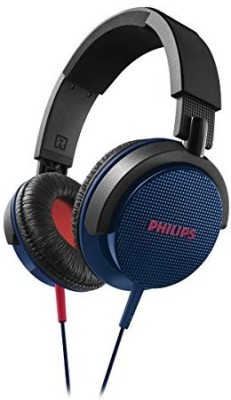 Philips Dj Headphone High Power Bass Headset Authentic Blue Wired Headphones