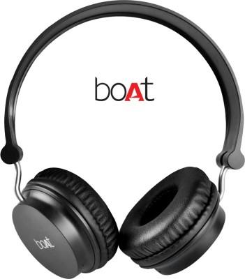 boAt Rockerz On Ear 400 Black On-the-ear Wireless Bluetooth Headphones (Black, On the Ear)