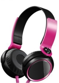 Dcoll High Quality MDR 400 Stereo Dynamic Headphone Wired Bluetooth Headphones (Black, Pink, Over The Ear)