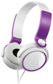 Dcoll High Quality MDR 400 Stereo Dynamic Headphone Wired Bluetooth Headphones (Purple, Over The Ear)