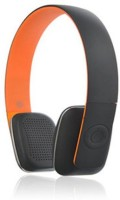 Microlab T2 Stereo Dynamic Headphone Wireless Bluetooth Headphones (Orange, On The Ear)