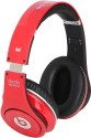 Castech Solid Grace Stereo Dynamic Headphone Wireless Bluetooth Headphones (Red, Black, Over The Ear)