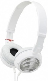 Alexis24 High Quality MDR 300 Stereo Dynamic Headphone Wired Bluetooth Headphones (White, Silver, Over The Ear)