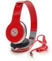 Signature VM-46 Stereo Dynamic Headphone Wired Headphones (Red, On The Ear)