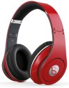 SOODO BEATZ STUDIO High Quality Stereo Dynamic Wired & Wireless Bluetooth Headphones (Red, Over The Ear)