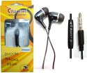 BSEnterprise BS Enterprise Stereo Sound Handsfree Earphone For Karbonn A40 Plus Stereo Wired Headphones (Black, In The Ear)