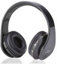 RoQ TM 016 Stereo Wireless Bluetooth Headphones (BLACK, On The Ear)