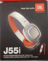 Zuspaa Jbl J55i Sterio Headphone Wired Headphones (white Orange, White Grey, Black, On The Ear)